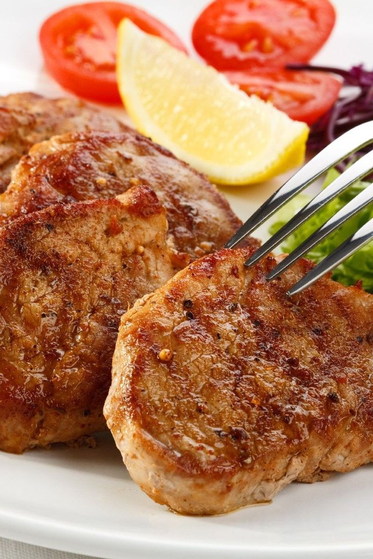 Broiled Pork Chops  121 best recipes pork ham bacon images on Pinterest