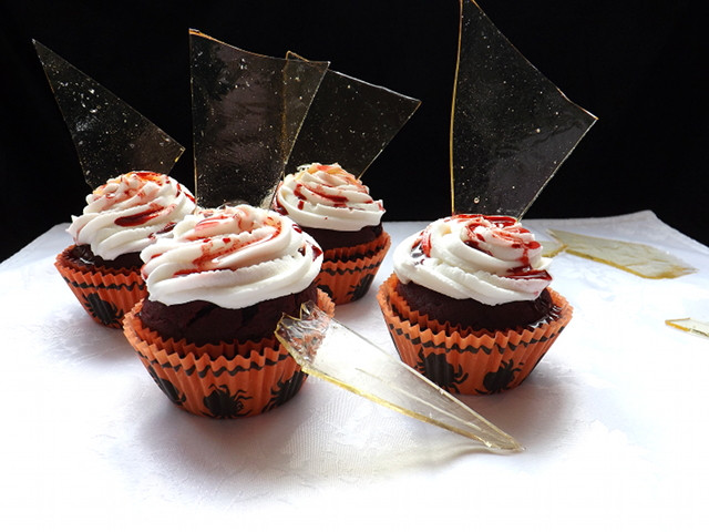 Broken Glass Cupcakes  Halloween Broken Glass Cupcakes Bake Then Eat