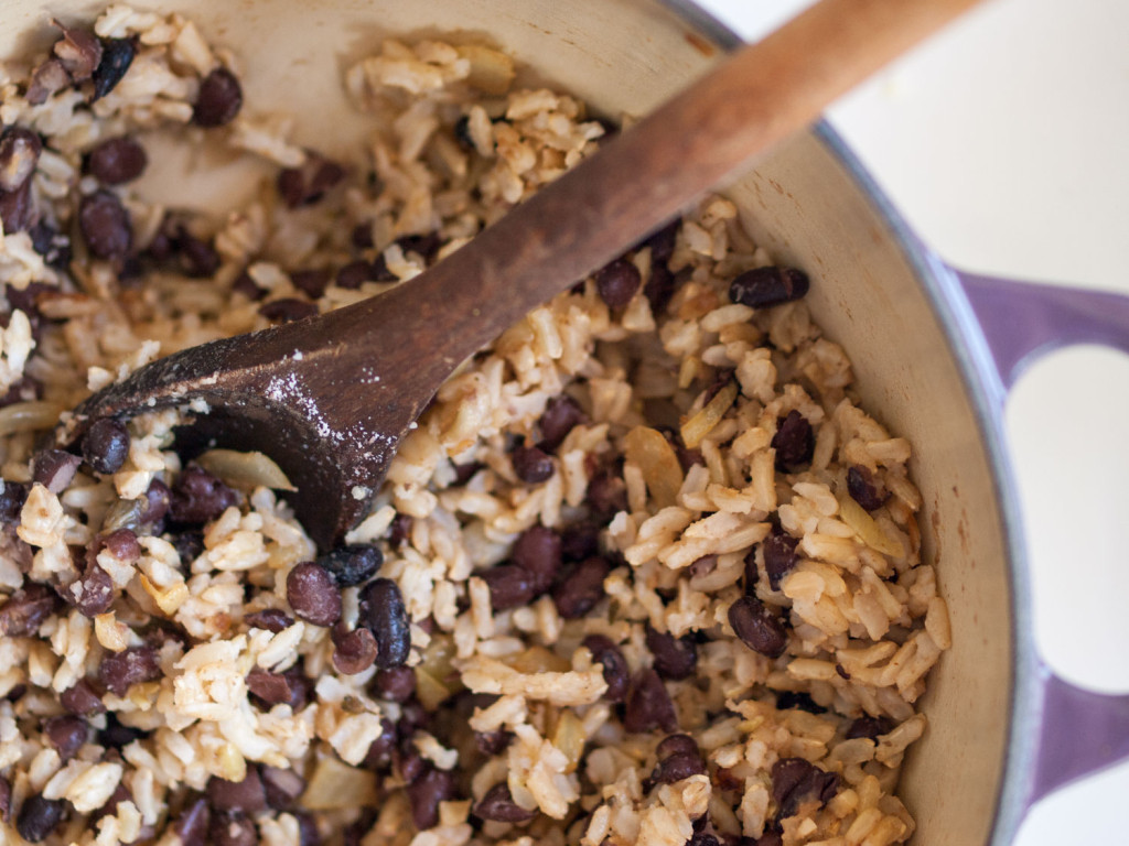 Brown Rice And Black Beans  Anytime Black Bean Bowls one window kitchen