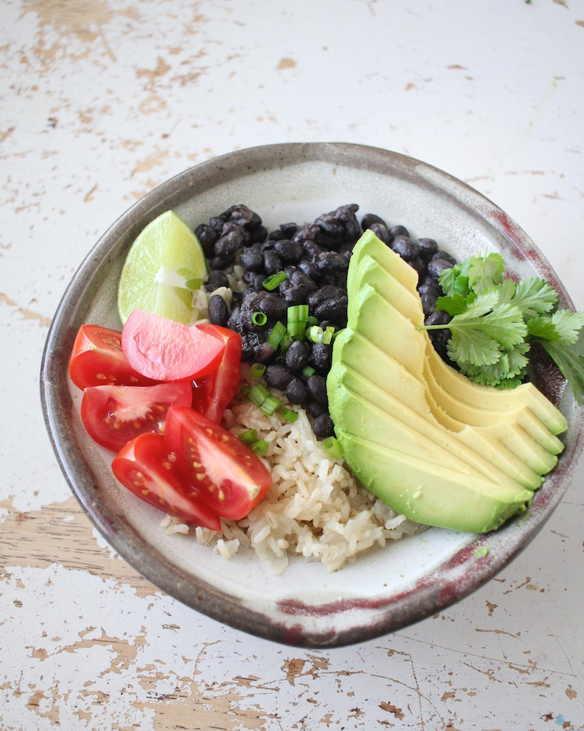 Brown Rice And Black Beans  Black Beans and Soaked Brown Rice Scratch Eats