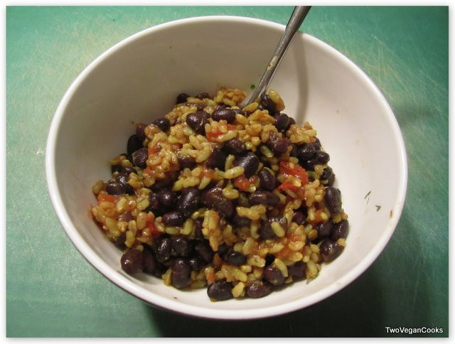 Brown Rice And Black Beans  brown rice with black beans