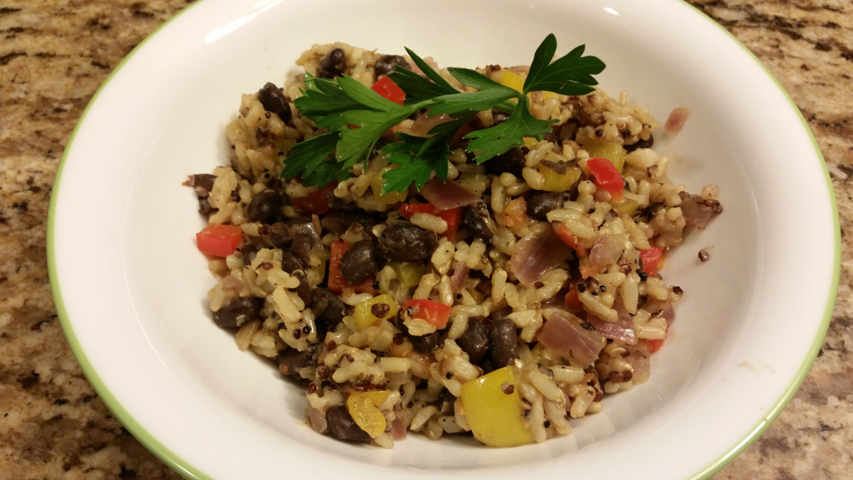 Brown Rice And Quinoa  Quinoa Brown Rice and Black Beans – A Li l Bit of Spice