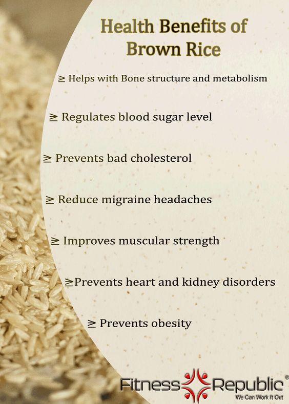 Brown Rice Benefits  Brown Rice benefits Health & Fitness
