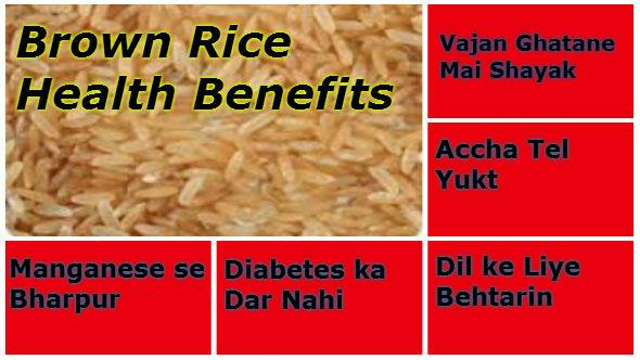 Brown Rice Benefits  Brown Rice Health Benefits Chawal Ke Lajawaab Fayde