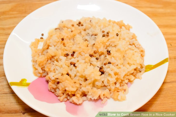 Brown Rice Cooker  3 Ways to Cook Brown Rice in a Rice Cooker wikiHow