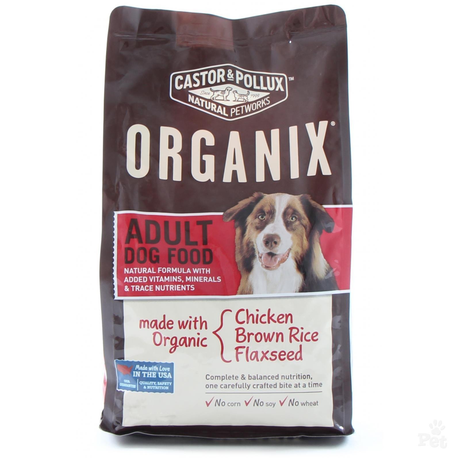 Brown Rice For Dogs  Organix Adult Chicken Brown Rice and Flaxseed Dog Food