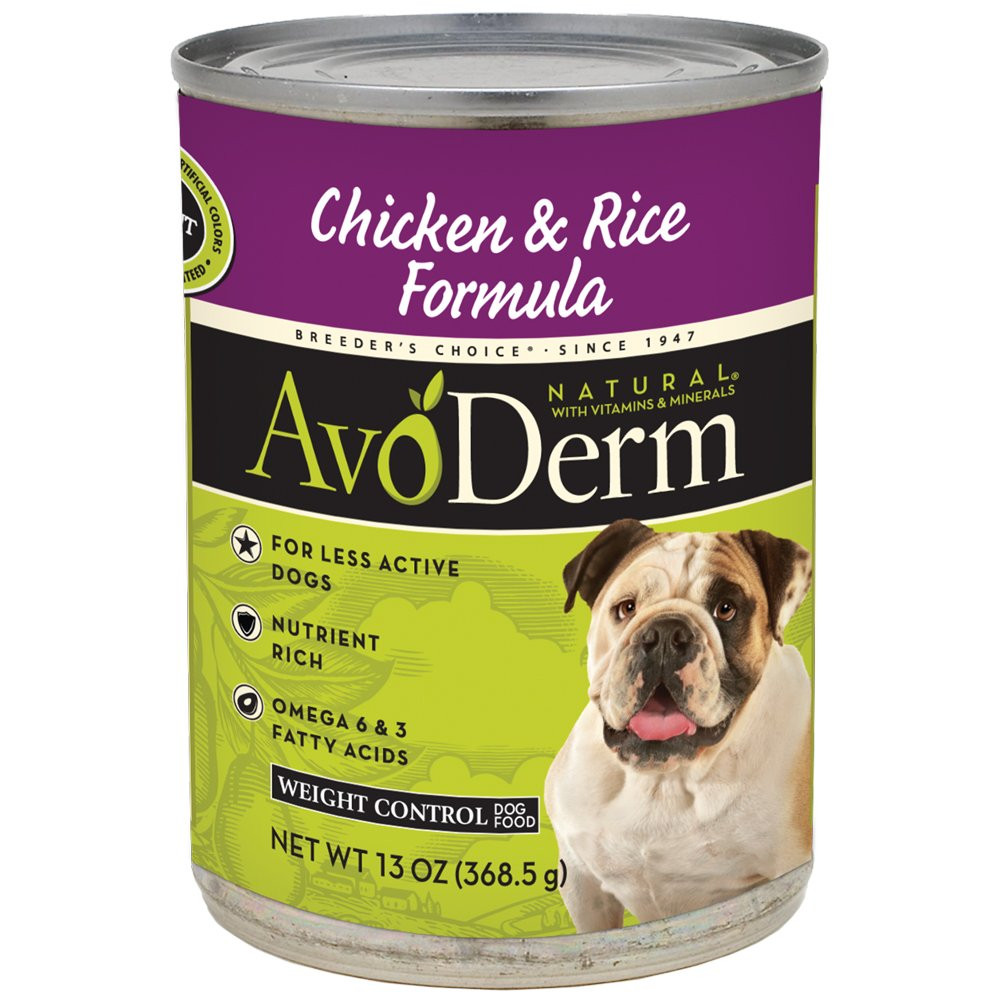 Brown Rice For Dogs  AvoDerm Natural Chicken Meal and Brown Rice Weight Control