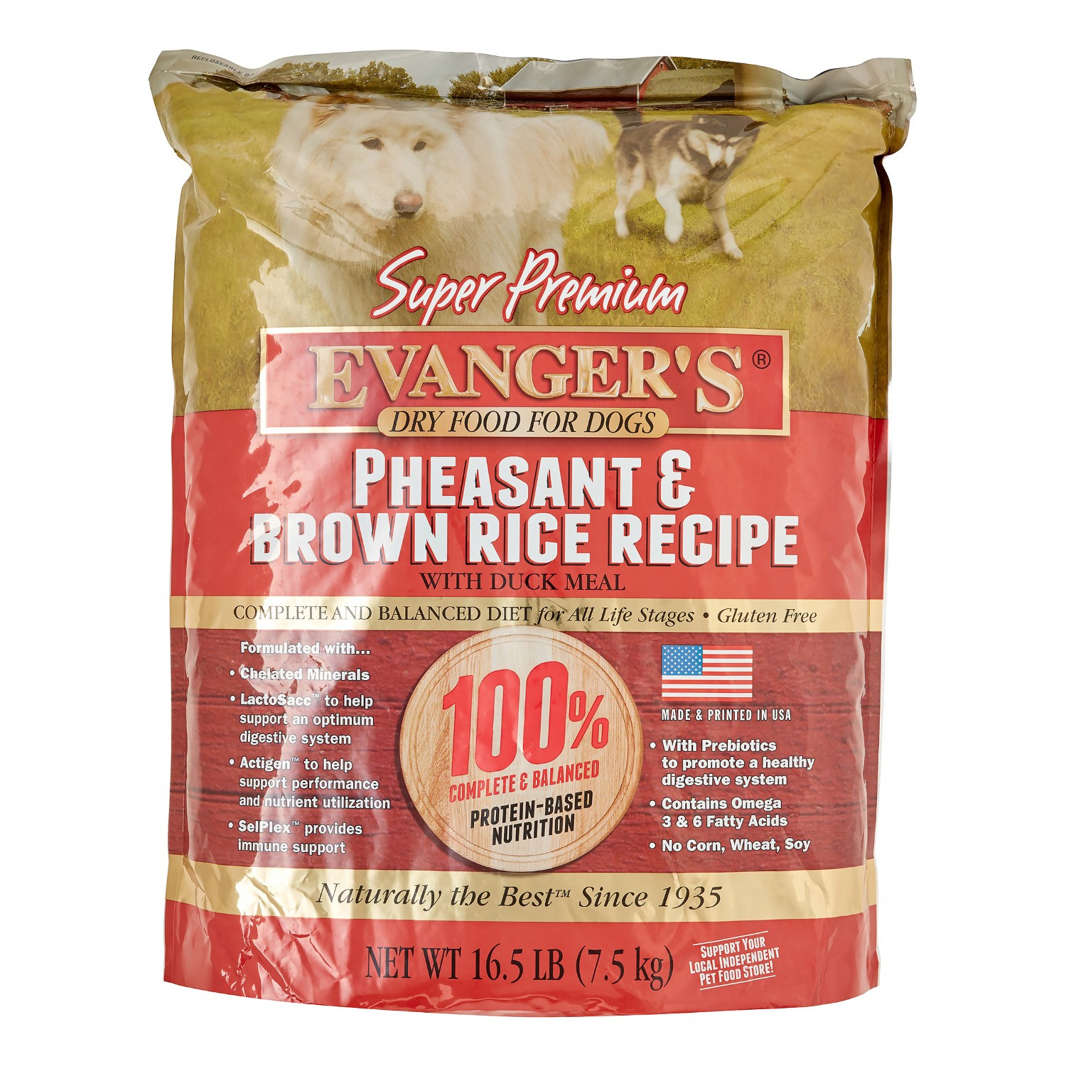 Brown Rice For Dogs  Evanger s Super Premium Pheasant & Brown Rice with Duck