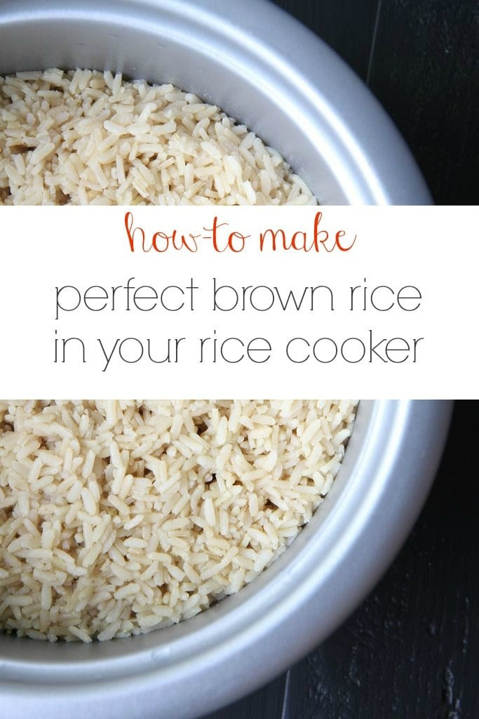 Brown Rice In Rice Cooker  Make Ahead Tutorial How to Make Perfect Brown Rice In