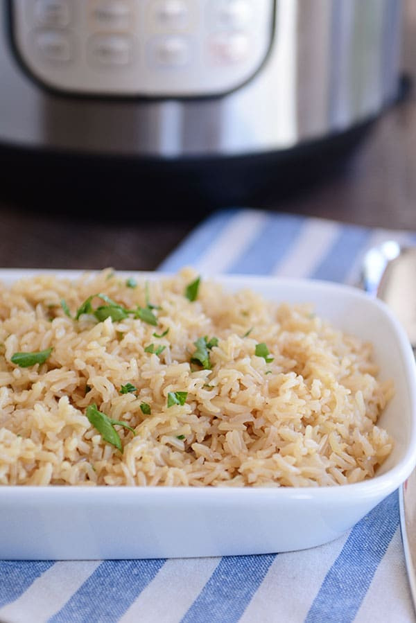 Brown Rice In The Instant Pot  Instant Pot Brown Rice Recipe