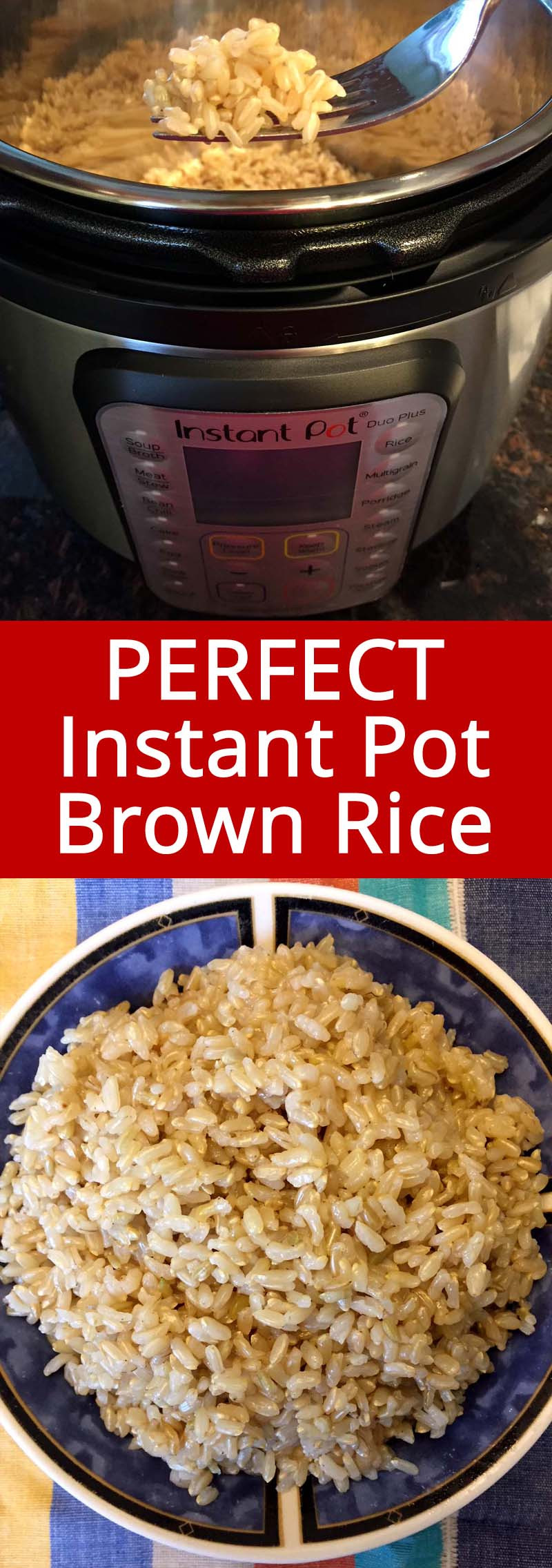 Brown Rice Instant Pot  Instant Pot Brown Rice – How To Cook Brown Rice In A