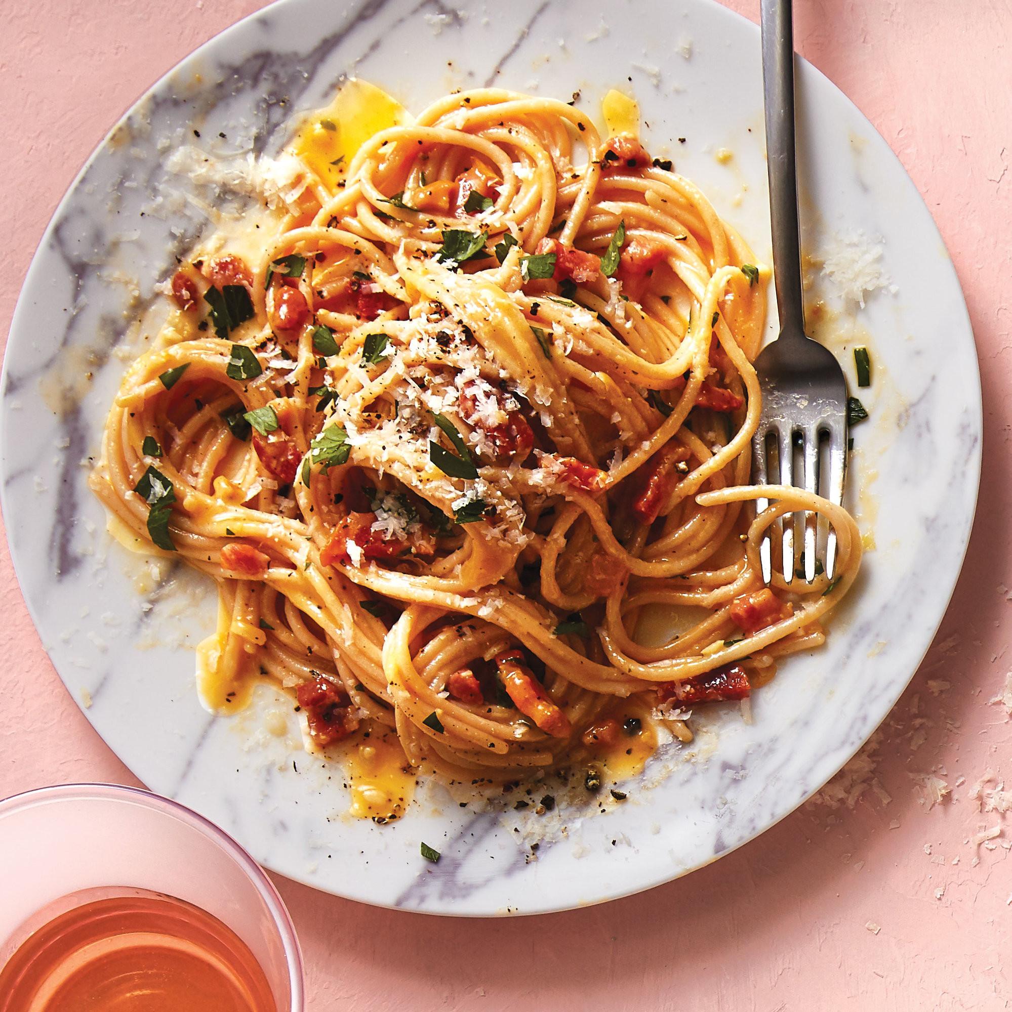 Brown Rice Pasta  Brown Rice Pasta Carbonara With Pancetta Health