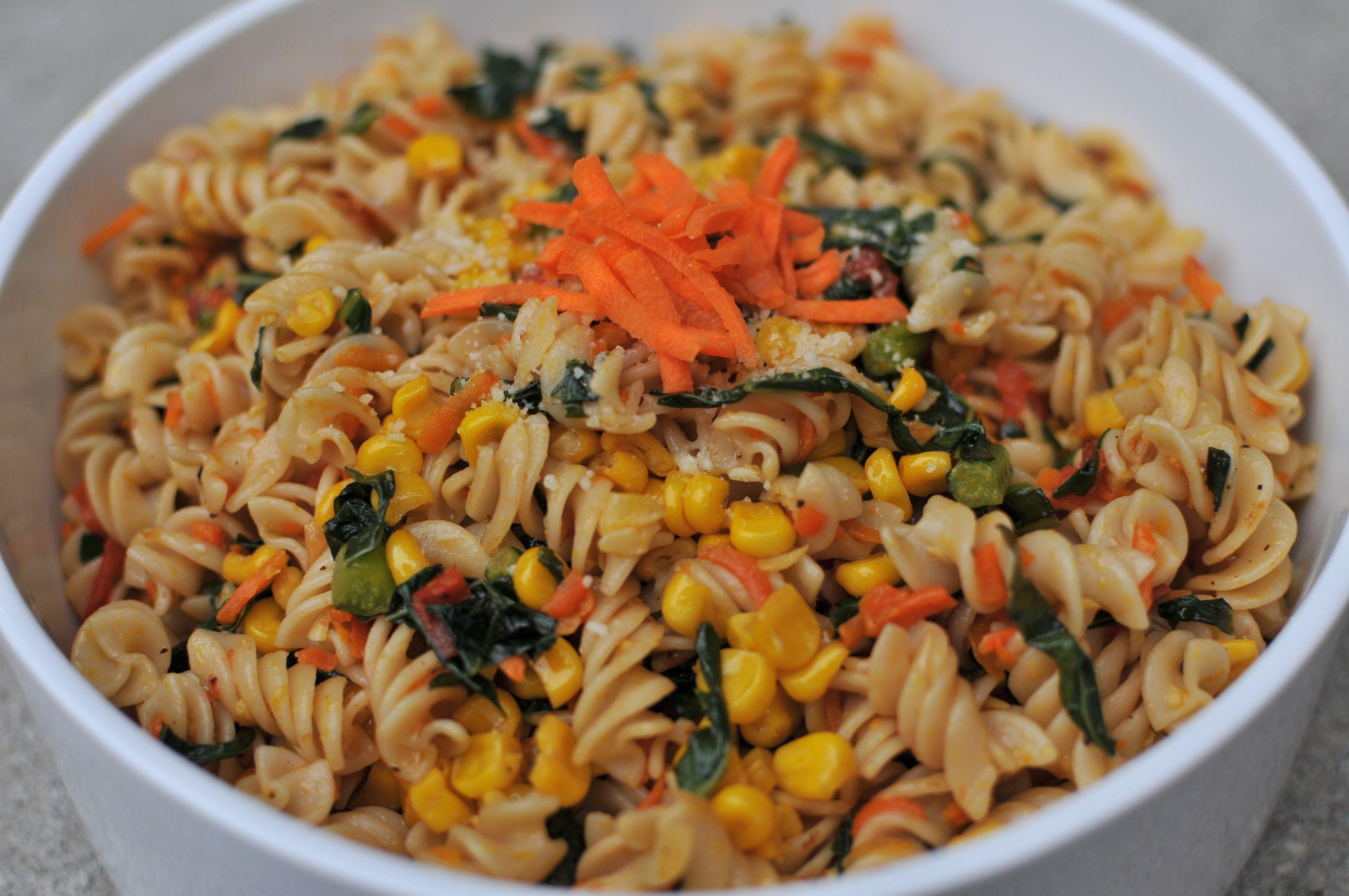 Brown Rice Pasta  BROWN RICE PASTA WITH A RAINBOW OF VEGGIES