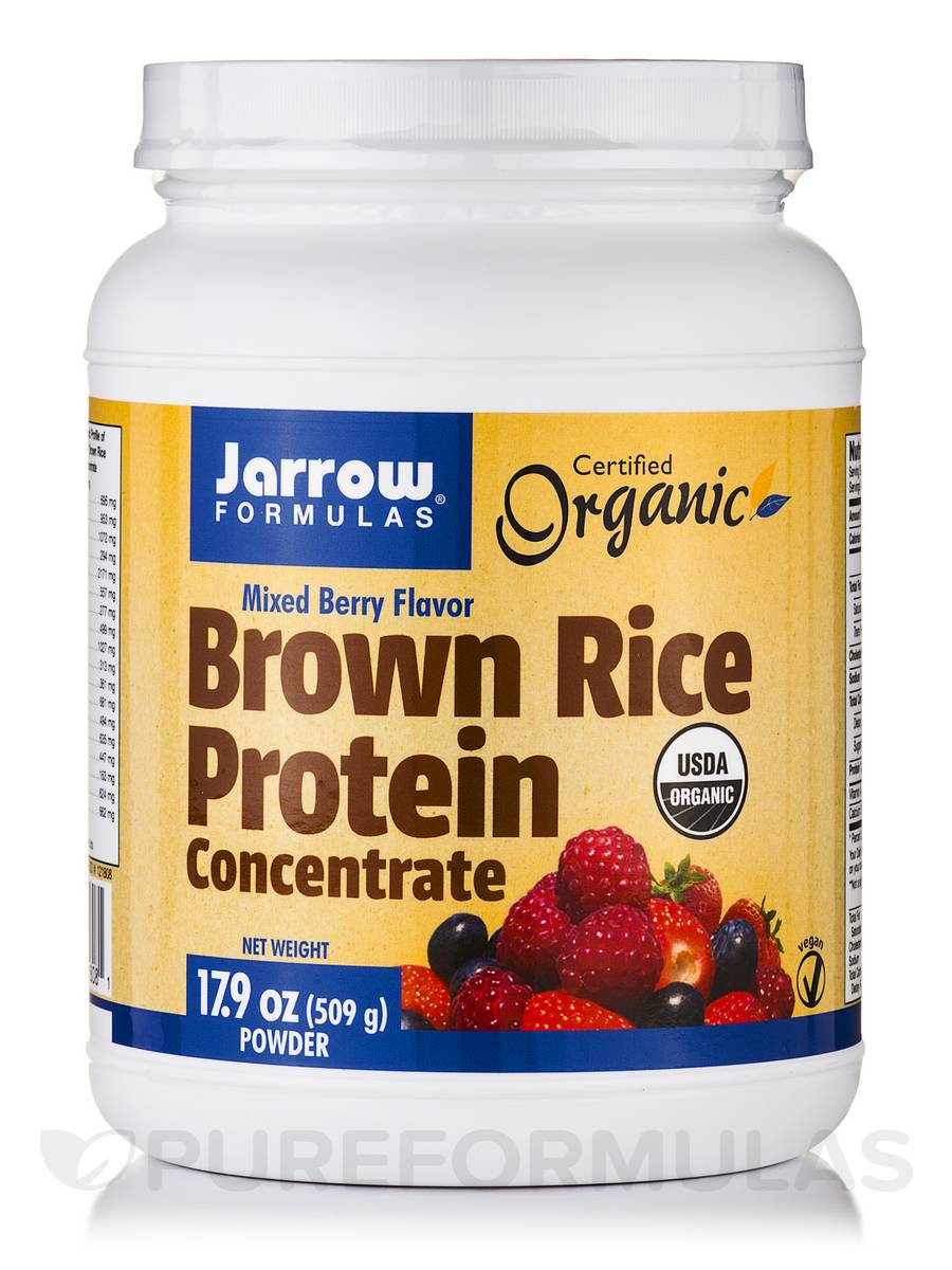 Brown Rice Protein  Brown Rice Protein Concentrate Berry 17 9 oz 509 Grams