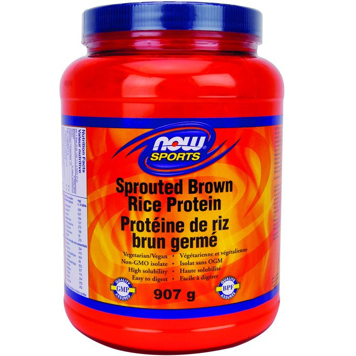 Brown Rice Protein  NOW Sprouted Brown Rice Protein 907g in Canada from $35