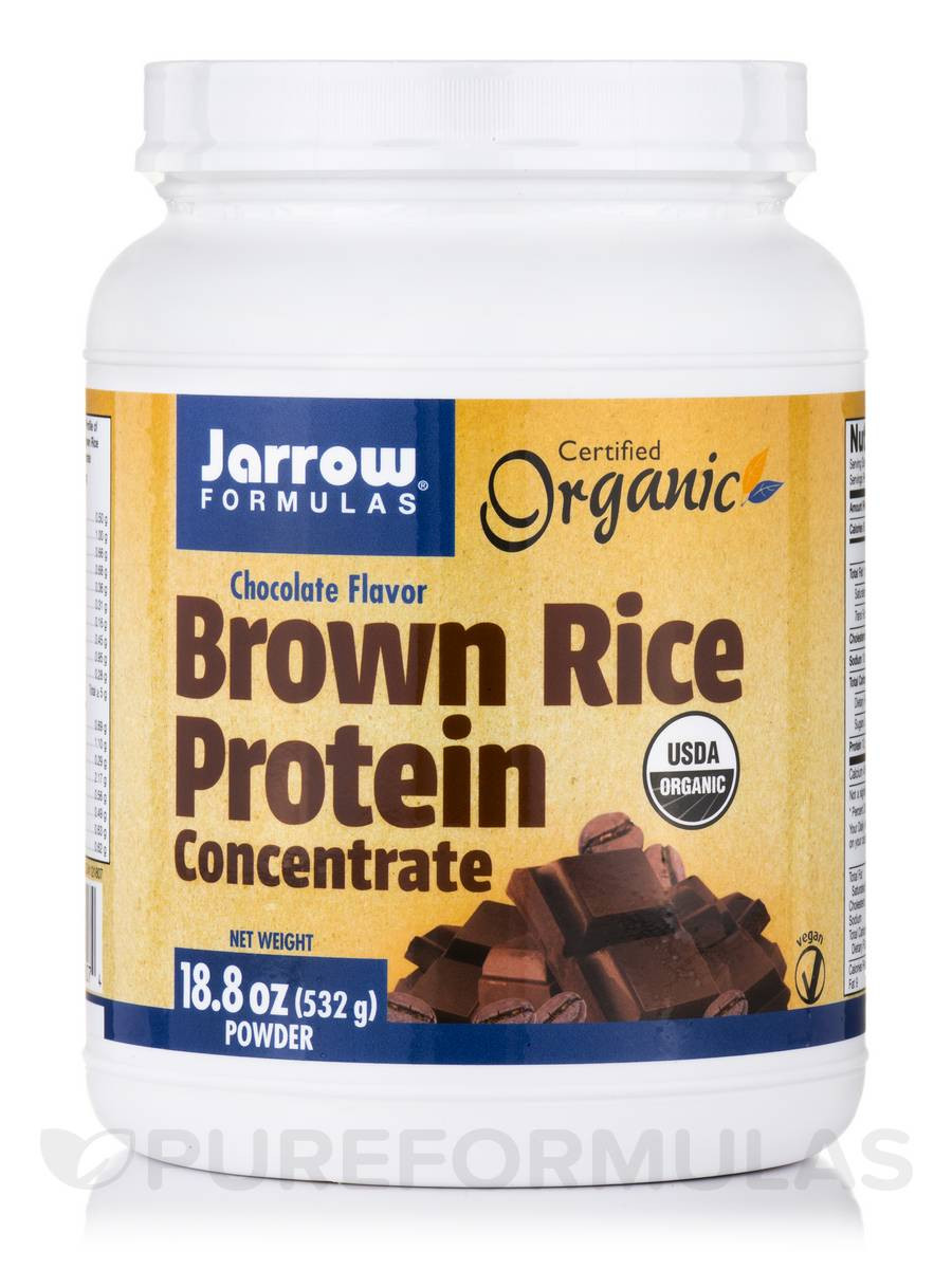 Brown Rice Protein  Brown Rice Protein Concentrate Chocolate Flavor 18 8 oz
