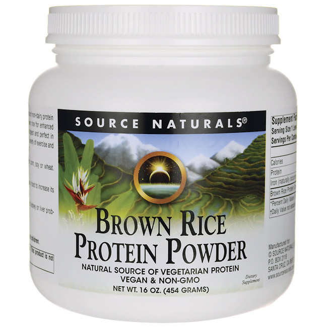 Brown Rice Protein  Source Naturals Brown Rice Protein Powder 16 oz 454 grams