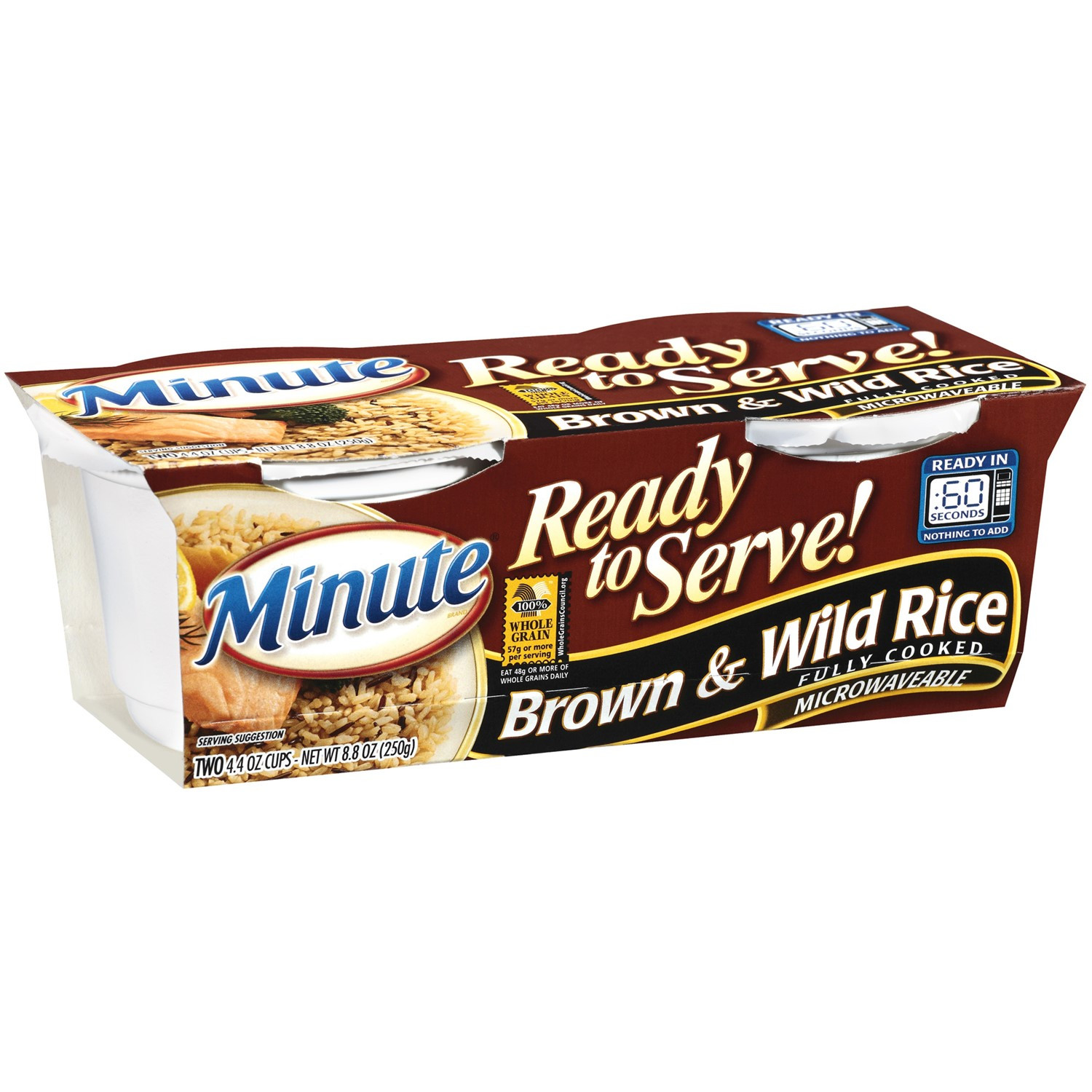 Brown Rice Walmart  Minute Ready to Serve Brown & Wild Rice 2 4 4 Ounce cups