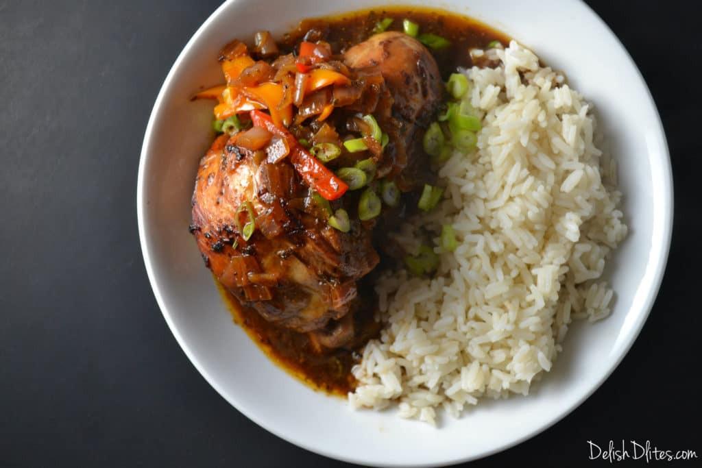 Brown Stew Chicken  Jamaican Brown Stew Chicken