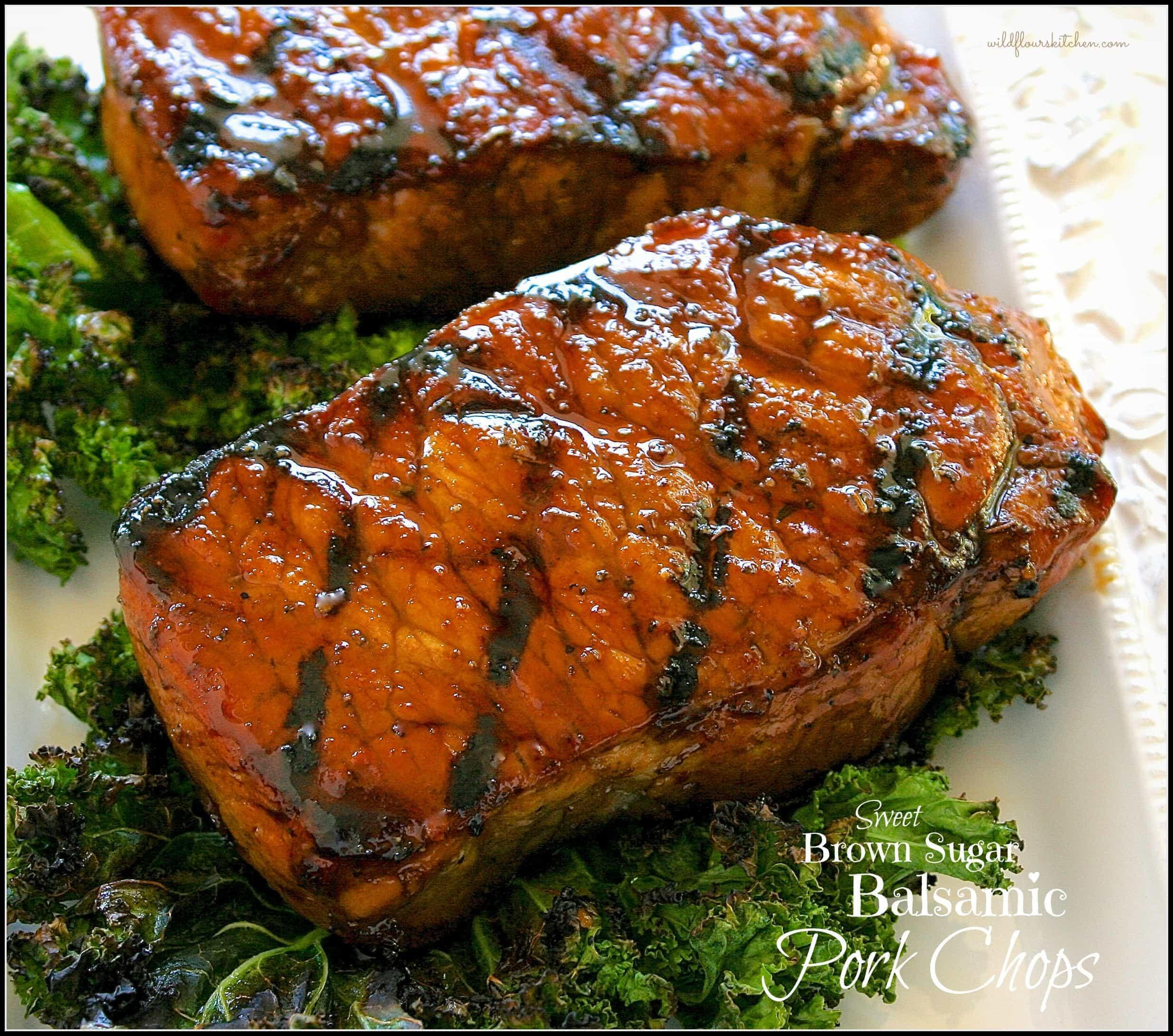Brown Sugar Glazed Pork Chops  Caramelized Balsamic & Brown Sugar Glazed Pork Loin Chops