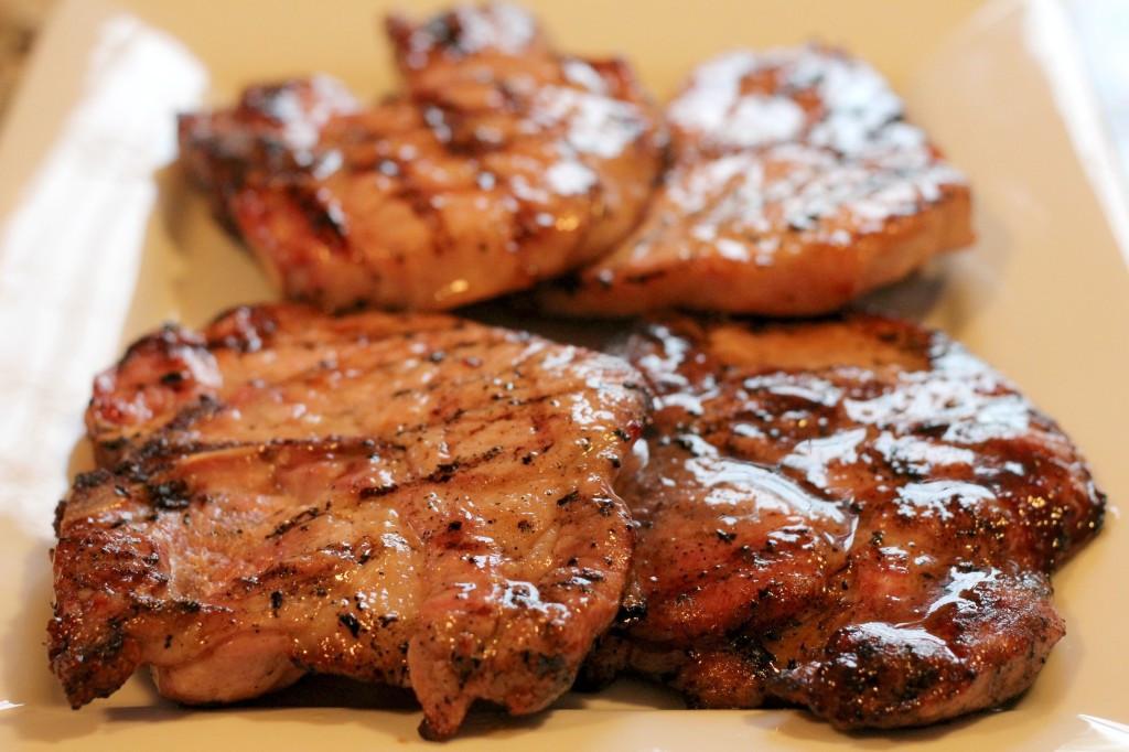 Brown Sugar Glazed Pork Chops  Grilled Brown Sugar Glazed Pork Chops