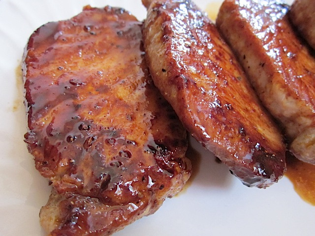 Brown Sugar Glazed Pork Chops  Glazed Pork Chops Bud Bytes