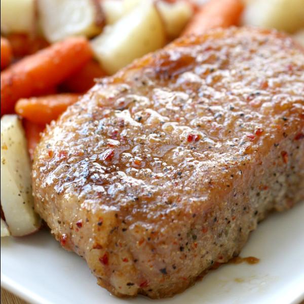 Brown Sugar Glazed Pork Chops  Brown Sugar Glazed Pork Chops