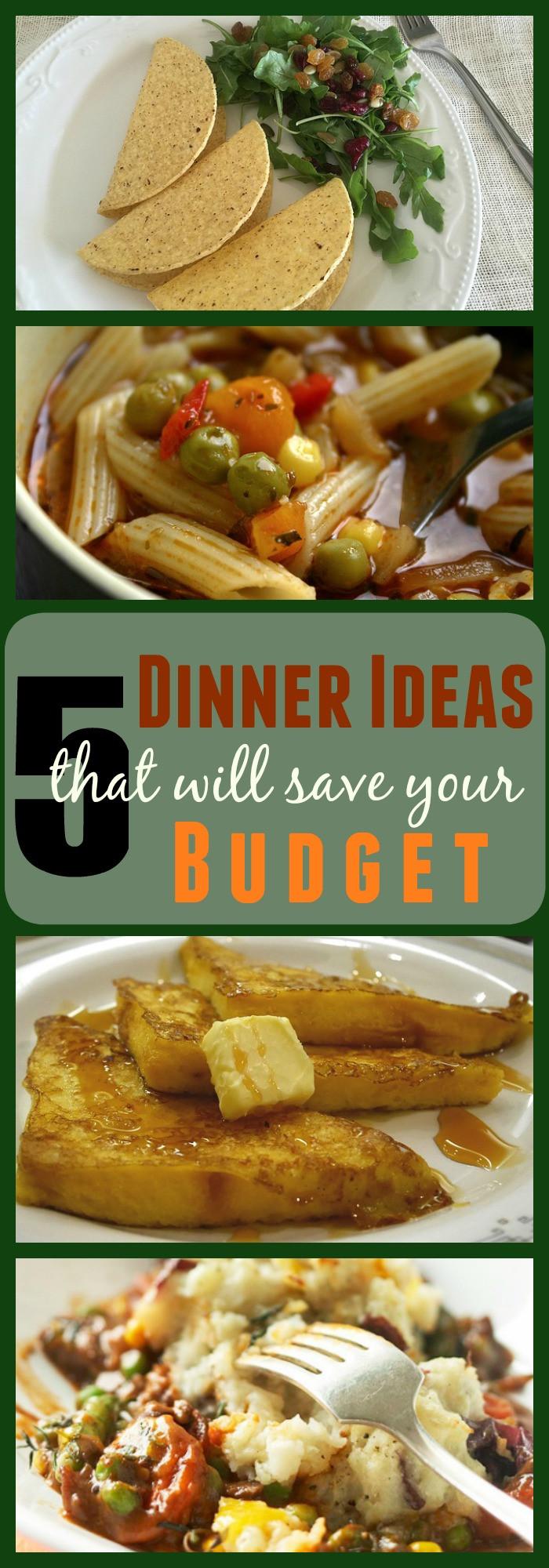 Budget Dinner Ideas  5 Bud Friendly Dinner Ideas The Organized Mom