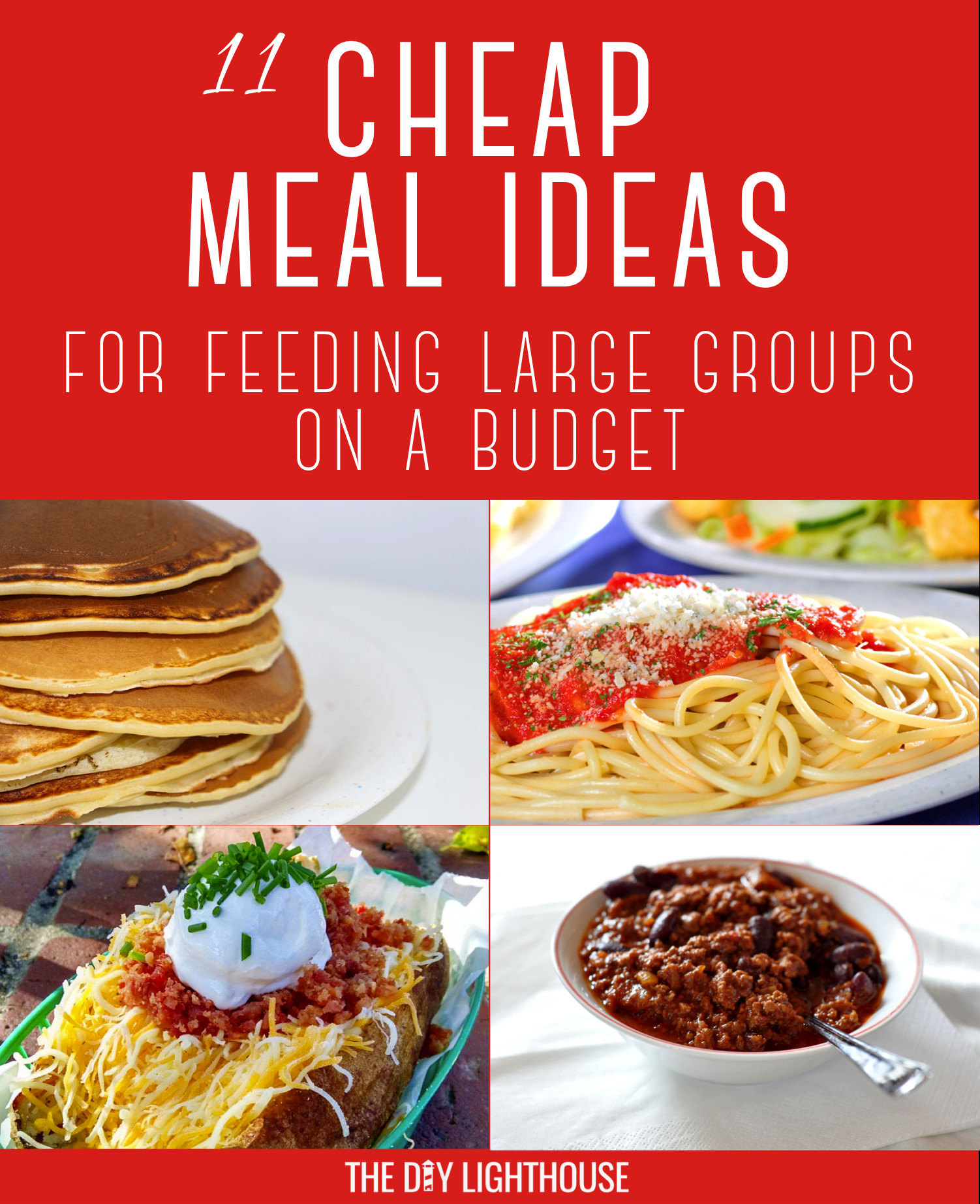 Budget Dinner Ideas  Cheap Meals for Feeding Groups