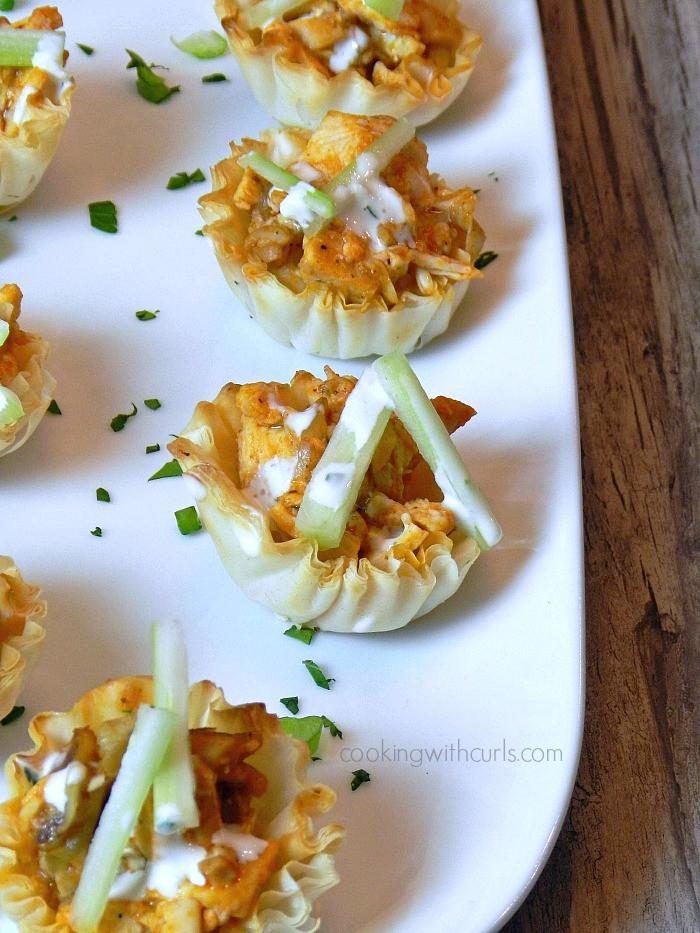 Buffalo Chicken Appetizers  Buffalo Chicken Bites & recipe 3 Cooking With Curls