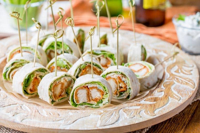 Buffalo Chicken Appetizers  Buffalo Chicken Roll Up Appetizers Saving Room for Dessert