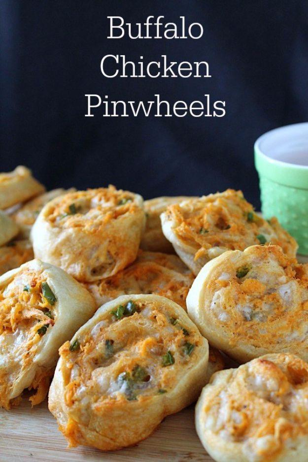 Buffalo Chicken Appetizers  taco pinwheels crescent rolls