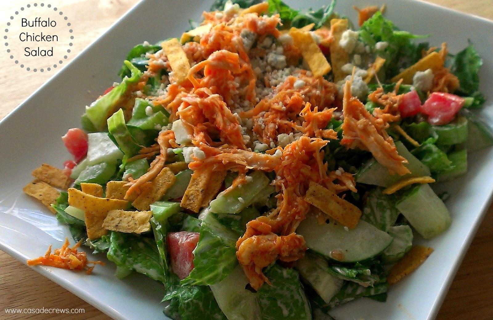 Buffalo Chicken Salad  Shredded Buffalo Chicken Salad for SundaySupper Casa de