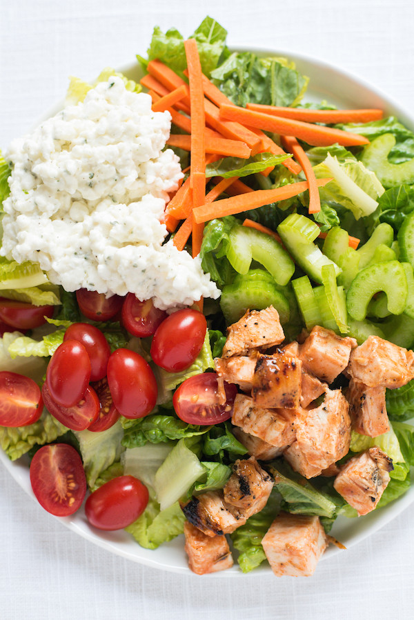 Buffalo Chicken Salad  Buffalo Chicken Salad with Ranch Cottage Cheese Foxes