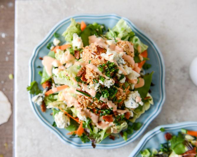 Buffalo Chicken Salad  Crunchy Buffalo Chicken Salads