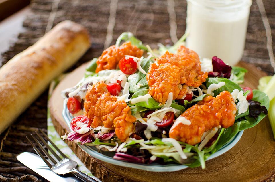 Buffalo Chicken Salad  Crispy Buffalo Chicken Salad