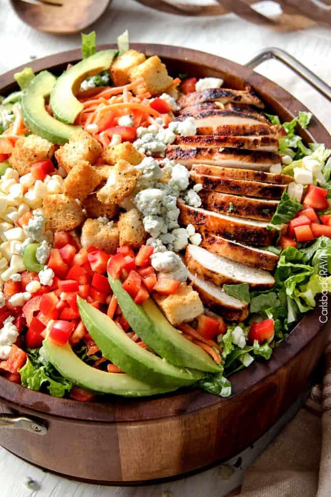 Buffalo Chicken Salad  Buffalo Chicken Salad with Blue Cheese Cilantro Ranch