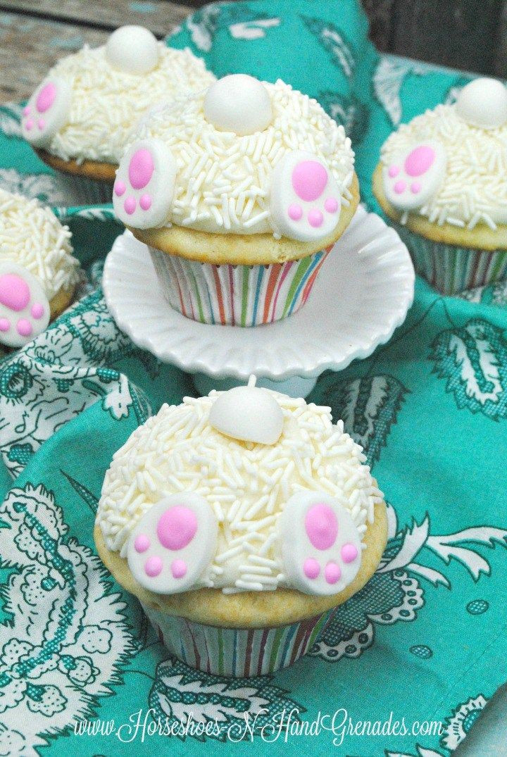 Bunny Butt Cupcakes  1000 images about All About Easter on Pinterest