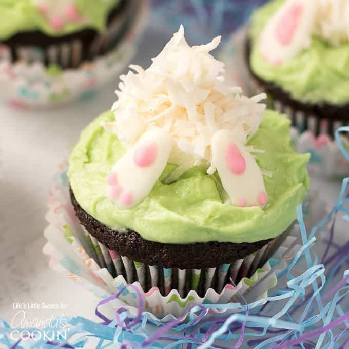 Bunny Butt Cupcakes  Bunny Butt Cupcakes adorable Easter and Spring themed