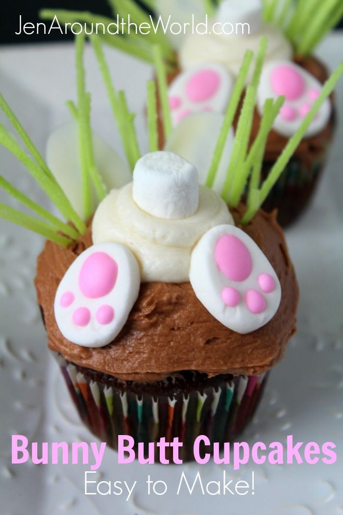 Bunny Butt Cupcakes  Sharing my easy tutorial today on making these adorable