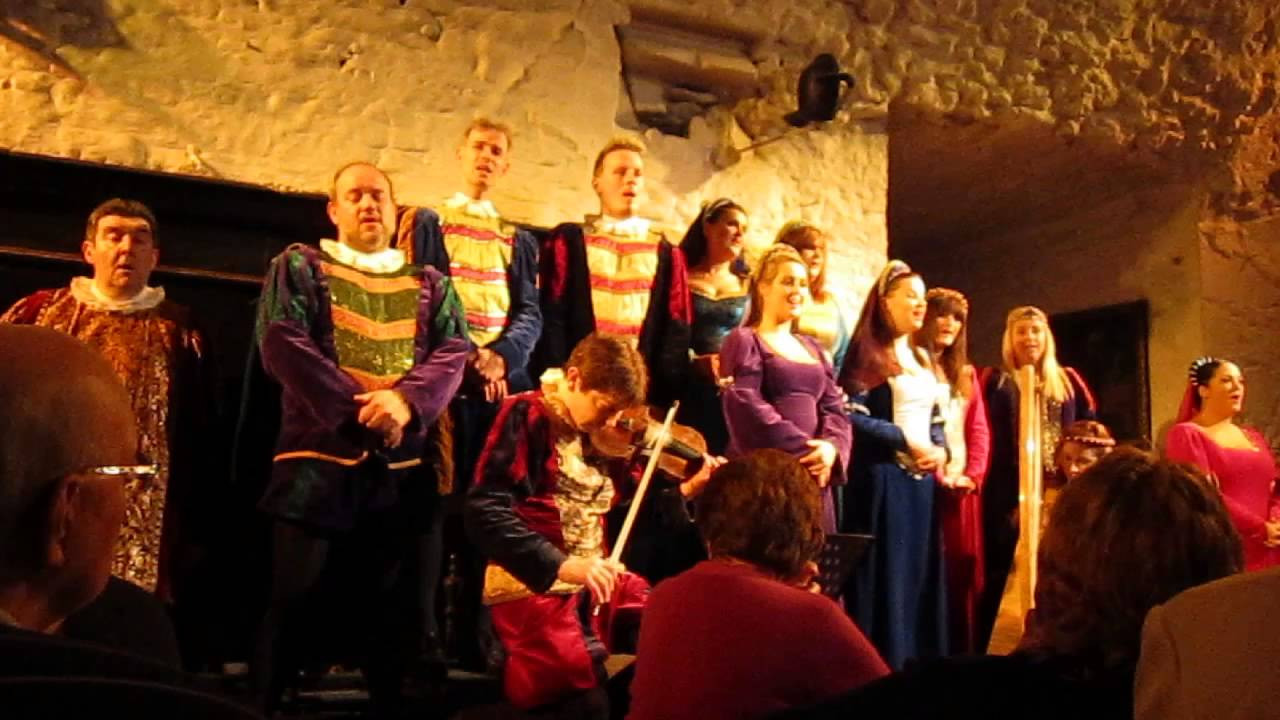 "Bunratty Castle Dinner  ""Danny Boy"" sung by the entertainers at Bunratty Castle in"