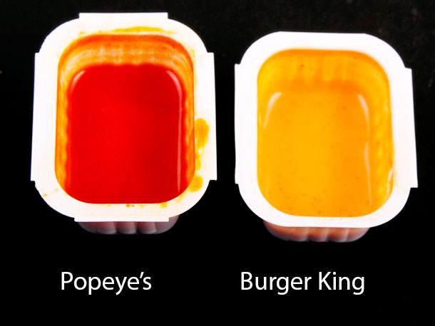 Burger King Dipping Sauces  Fast Food Chicken Dippin Sauce Showdown Popeye s Vs