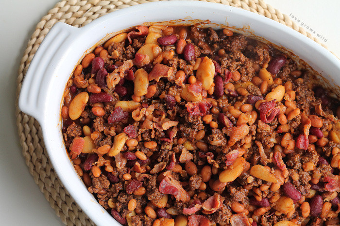 Bush'S Baked Beans With Ground Beef  Beef and Bacon Baked Beans Love Grows Wild