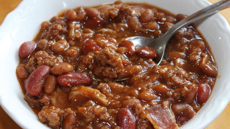 Bush'S Baked Beans With Ground Beef  Hearty Baked Beans Recipe BettyCrocker