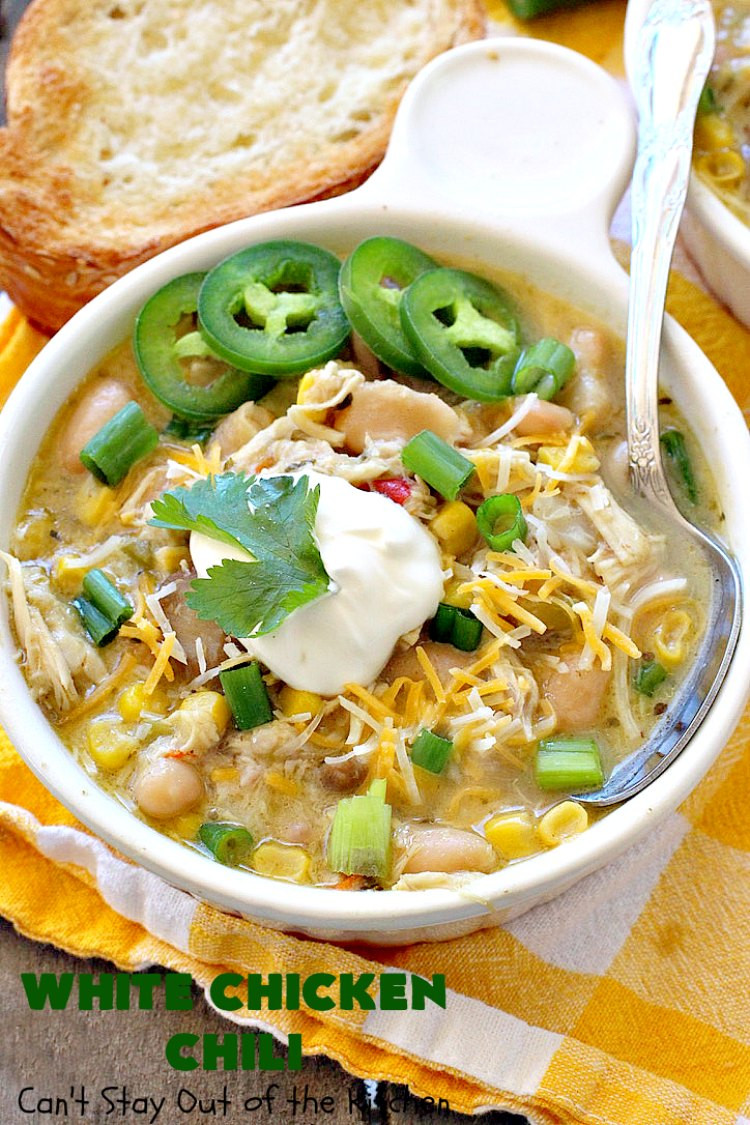Bush'S White Chicken Chili  White Chicken Chili Can t Stay Out of the Kitchen