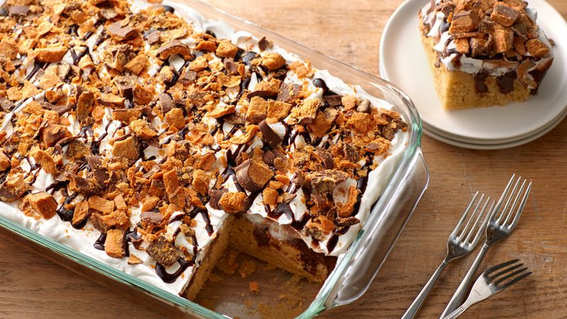 Butterfinger Poke Cake  Butterfinger™ Poke Cake recipe from Betty Crocker