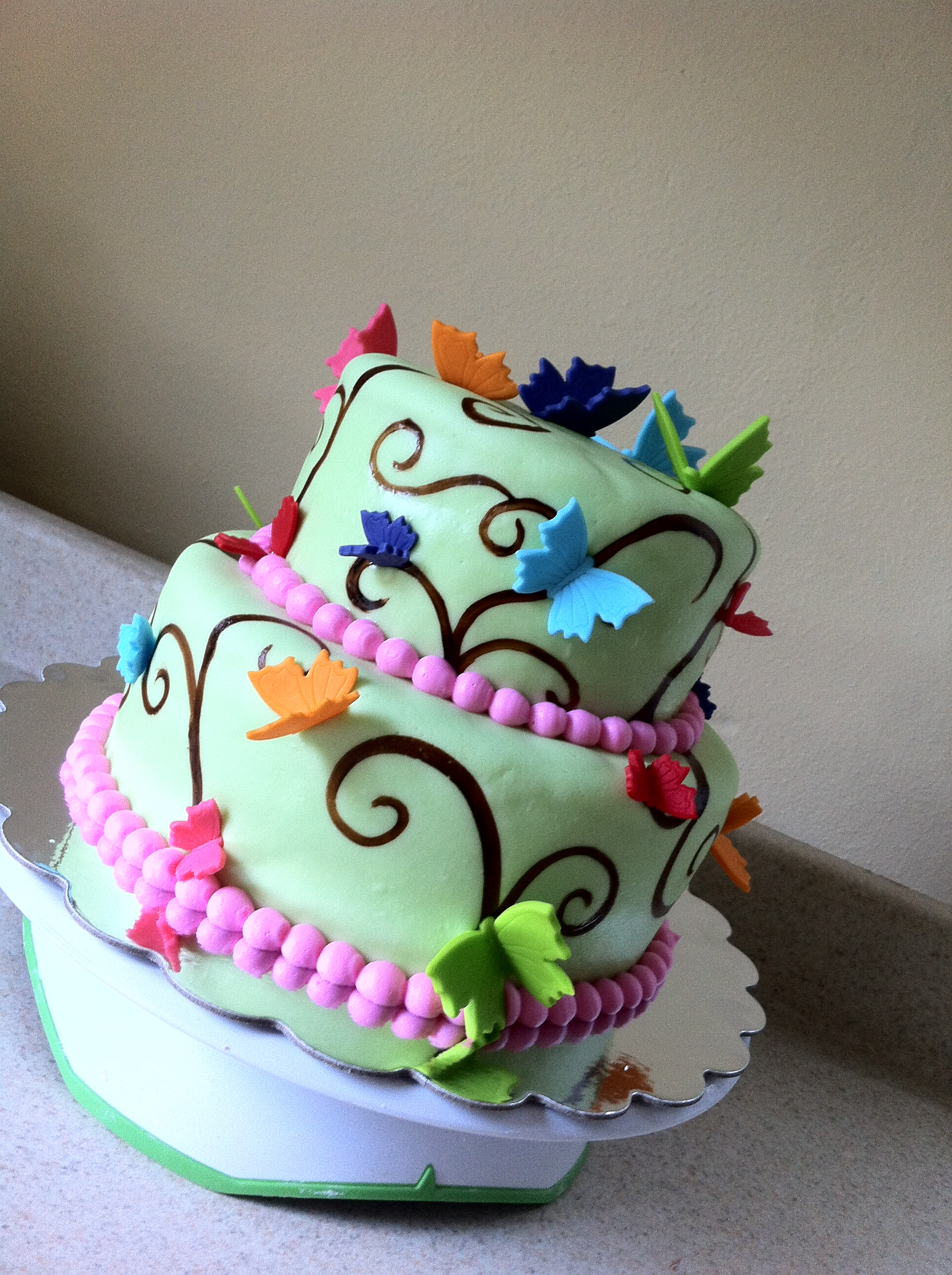 Butterfly Birthday Cake  Butterfly Cake Recipe — Dishmaps