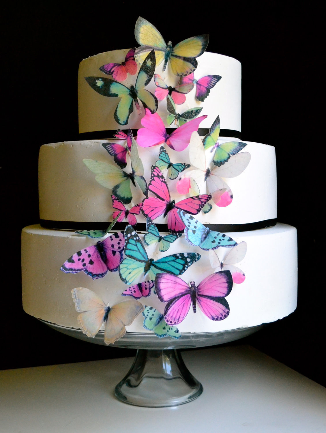 Butterfly Birthday Cake  EDIBLE BUTTERFLIES Cake & Cupcake Toppers Butterfly