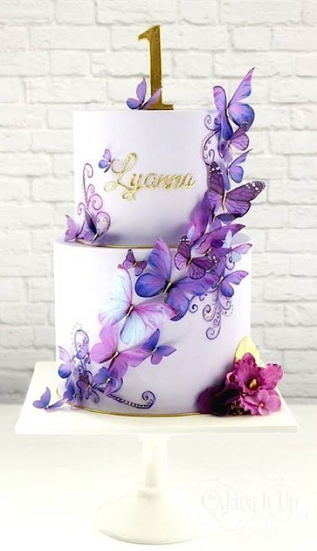 Butterfly Birthday Cake  Cake Wrecks Home Sunday Sweets Gets A Case The
