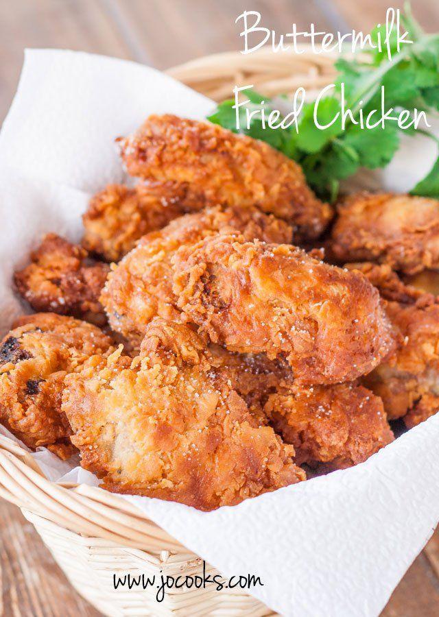 Buttermilk Fried Chicken Recipe  1000 ideas about Buttermilk Fried Chicken on Pinterest